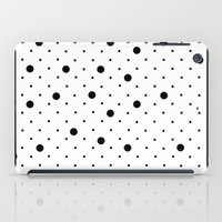 Pin Points Polka Dot Black and White iPad Case