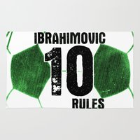 Ibrahimovic 10 Rules Rug