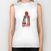 Black Widow Print Biker Tank