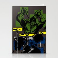 Smash The Drums... Stationery Cards