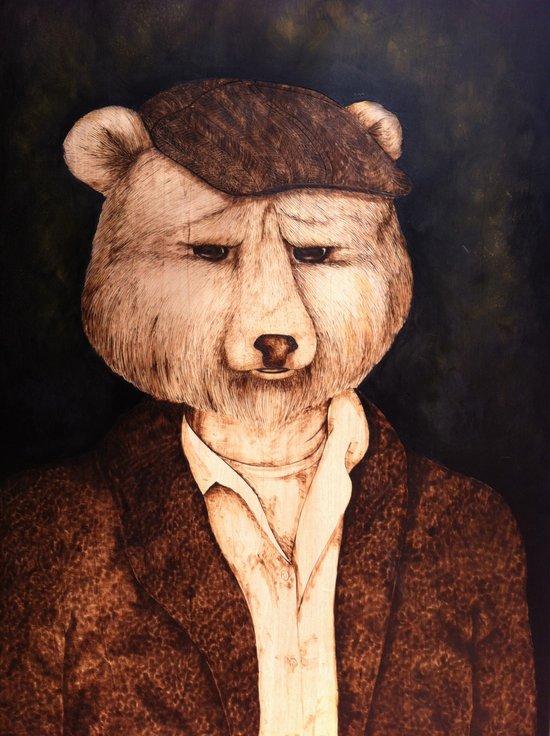 Mr. B the Bear Art Print