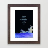Inspirational - Beauty Framed Art Print