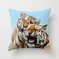 TIGERS - DOUBLE TROUBLE Throw Pillow