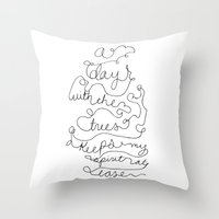 a day with the trees Throw Pillow