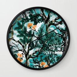 Wall Clock - Natural Camouflage - Burcu Korkmazyurek