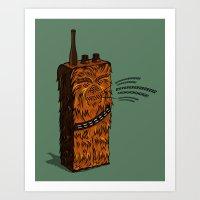 Wookiee Talkie Art Print