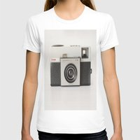 vintage camara Womens Fitted Tee White SMALL