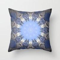 Polished Stone Metal Element Mandala Throw Pillow