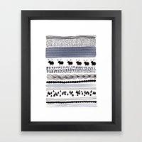 Pattern / Nr. 1 Framed Art Print