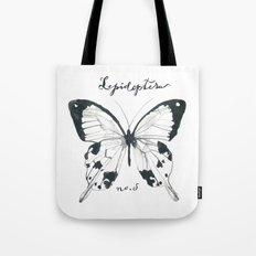 Lepidoptera Study Black & White Butterflies Tote Bag