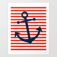 Nautical Anchor Art Print