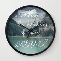 Follow the directions of your Dreams Wall Clock