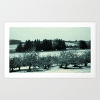 Juicy Apple_Wet Air Breath_Walk Art Print