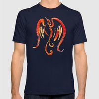 The Firebird Mens Fitted Tee Navy SMALL
