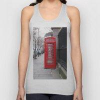 London Phone Booth Unisex Tank Top