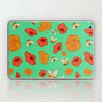 Poppies & Bees Laptop & iPad Skin