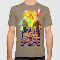 Uncanny X-Men Mens Fitted Tee Tri-Coffee SMALL