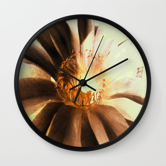 Kaktus Flower Wall Clock