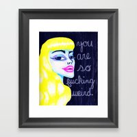 So Weird. Framed Art Print