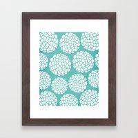 Turquoise Blossoms Framed Art Print