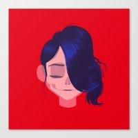 see through girl 3 Canvas Print