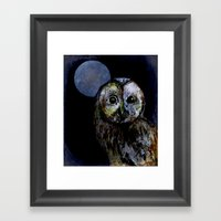 The Night Owl Framed Art Print
