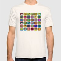 8-bit Game Cartridges Mens Fitted Tee Natural SMALL