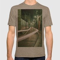 Barcelona, Spain night streets. Mens Fitted Tee Tri-Coffee SMALL