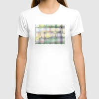 Georges Seurat Remixed (2009) Womens Fitted Tee White SMALL