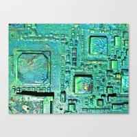 Tech Wall Canvas Print