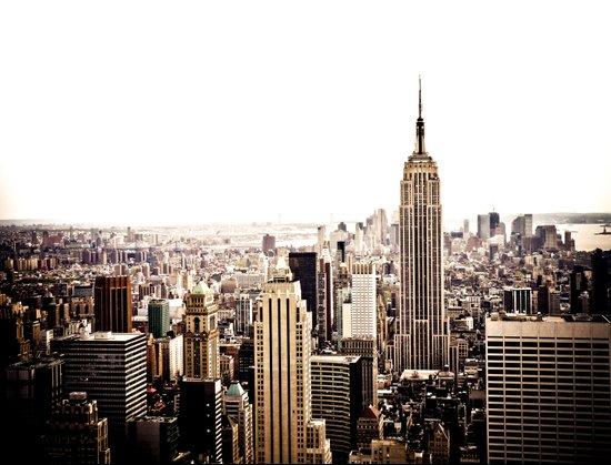 new york city skyline art print by vivienne gucwa society6. Black Bedroom Furniture Sets. Home Design Ideas