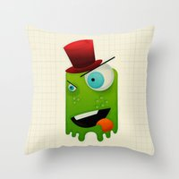 Scary Monster Throw Pillow