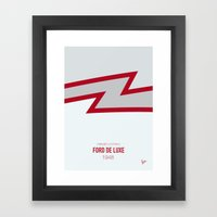 No022 My GREASE Minimal … Framed Art Print