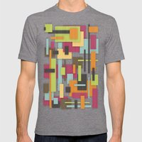 Retrotopia Mens Fitted Tee Tri-Grey SMALL