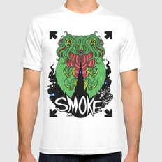 smoke White SMALL Mens Fitted Tee