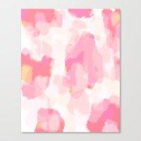 Adonia - blush pink abstract art Canvas Print