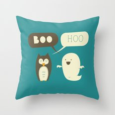 Boo Hoo Throw Pillow