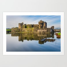 Caerphilly Castle Long Exposure 1 Art Print