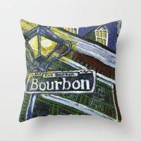 Rue Bourbon Throw Pillow
