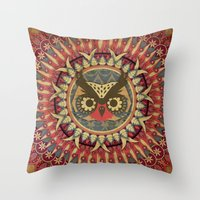Vintage Owl Throw Pillow