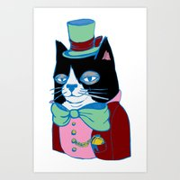 Dignified Cat Does Paste… Art Print