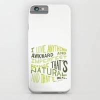 iPhone & iPod Case featuring I Love Anything Awkward and Imperfect Because That's Natural and That's Real - Marc Jacobs by One Curious Chip