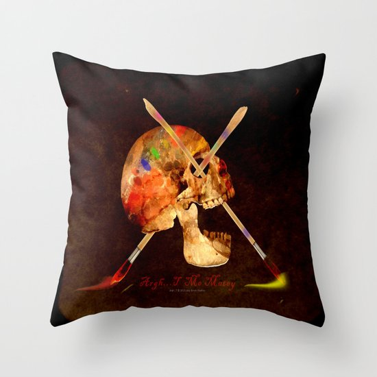 Argh…T  Me Matey 036 Throw Pillow