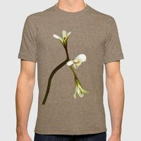 wild geranium - Free shipping Mens Fitted Tee Tri-Coffee SMALL