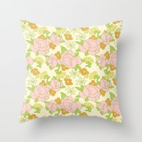 vintage 5 Throw Pillow