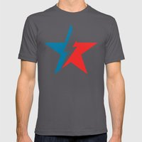 Bowie Star White Mens Fitted Tee Asphalt SMALL