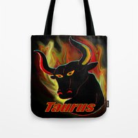 Taurus The Bull Tote Bag