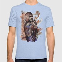 Lara ink by carographic, Carolyn Mielke Mens Fitted Tee Tri-Blue SMALL