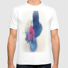 Rose In A Dream ~ flowers  White SMALL Mens Fitted Tee