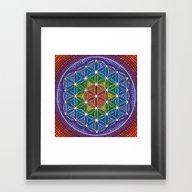 Rainbow Happy Flower Of … Framed Art Print